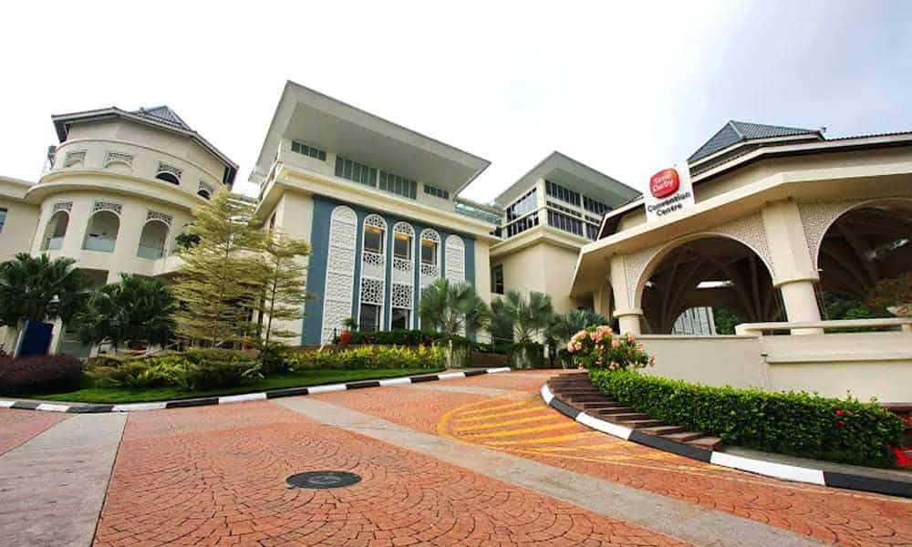 A façade of Sime Darby Convention Centre in Bukit Kiara. Source: AskVenue.com