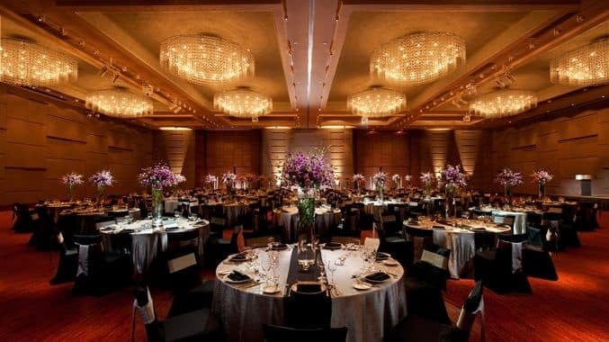 DoubleTree's Grand Ballroom is ideal for large group gatherings, wedding dinners and other banquet functions. Source: DoubleTree by Hilton Hotel Kuala Lumpur