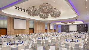 Such a trendy looking interior for a Grand Ballroom! Source: Marriott