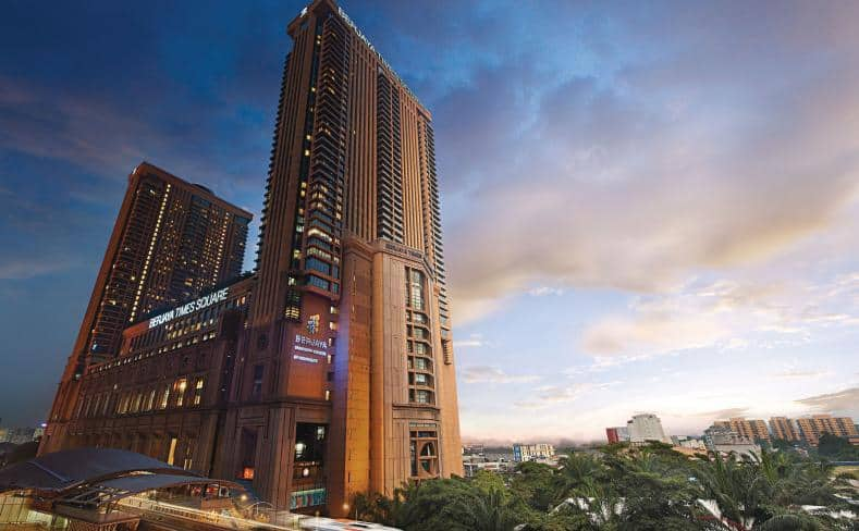 Wonderful night view of the Berjaya Times Square Hotel. Source: Berjaya Times Square Hotel Kuala Lumpur