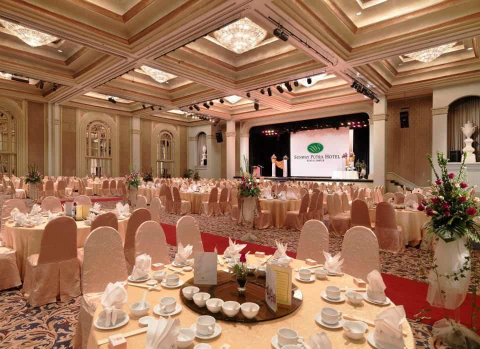 A look at the warm, cosy interiors of the Grand Ballroom. Source: Sunway Putra Hotel Kuala Lumpur FB