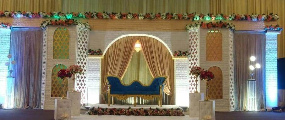 An Indian wedding ceremony set-up at Rizqhana Gallery. Source: Dewan Kahwin RizqHana Gallery FB