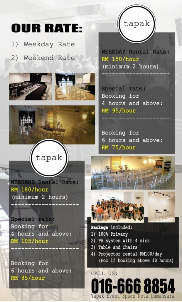 Tapak Event Space 1 Tapak Event Space